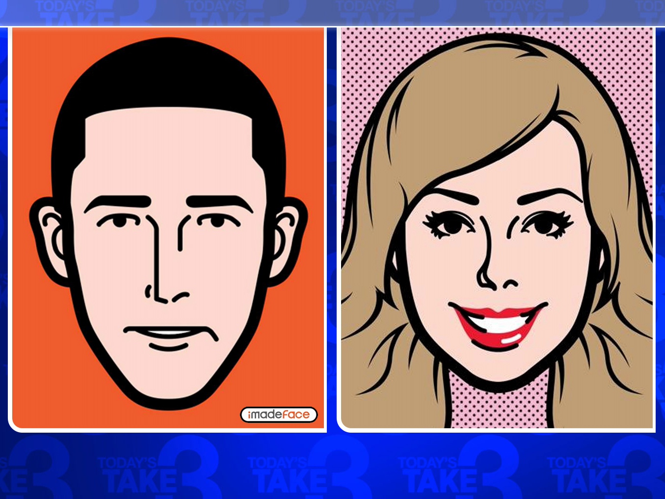 today anchors imade face cartoon portraits