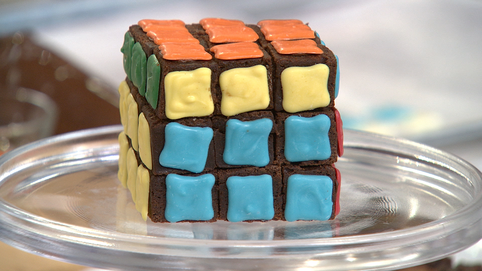 rubik's cube brownies, lego cookies: diy desserts