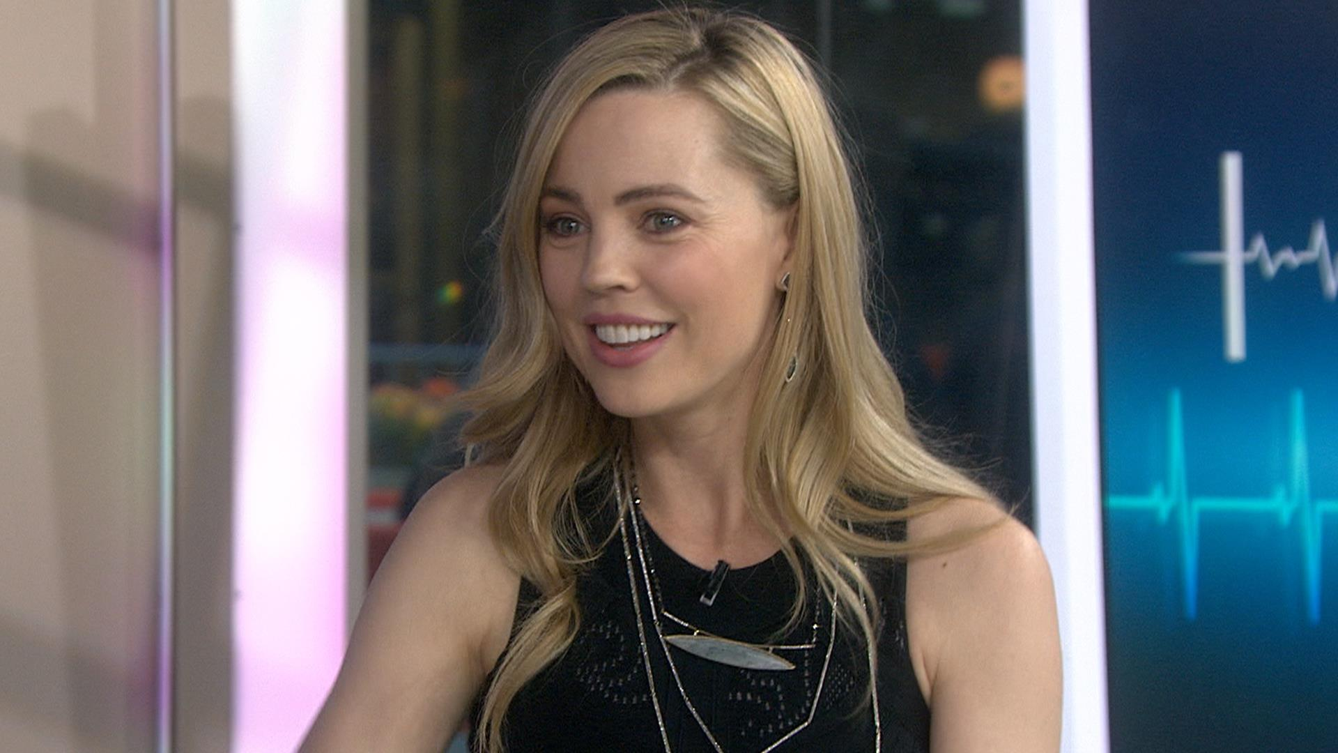 melissa george roller-skates into today to talk 'heartbeat'
