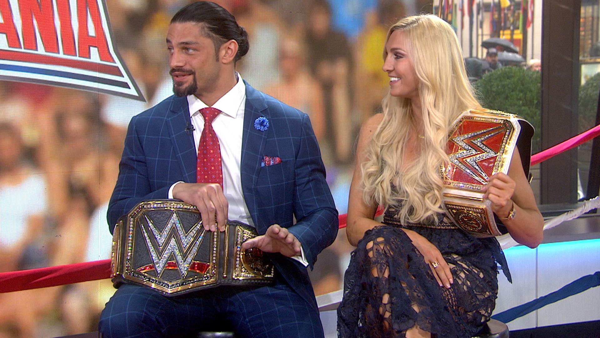 Meet the winners of wrestlemania 32 roman reigns and charlotte news kristyandbryce Image collections