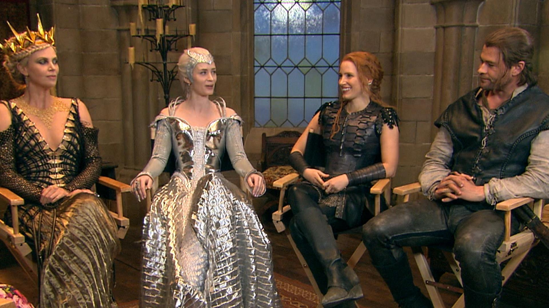 Get a sneak peek behind the scenes of 'The Huntsman ...