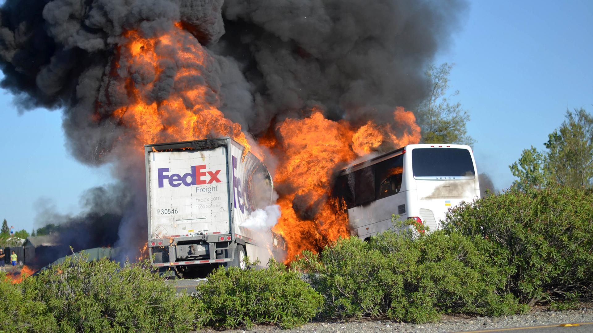 California Bus Crash Leaves Several Dead Dozens Injured
