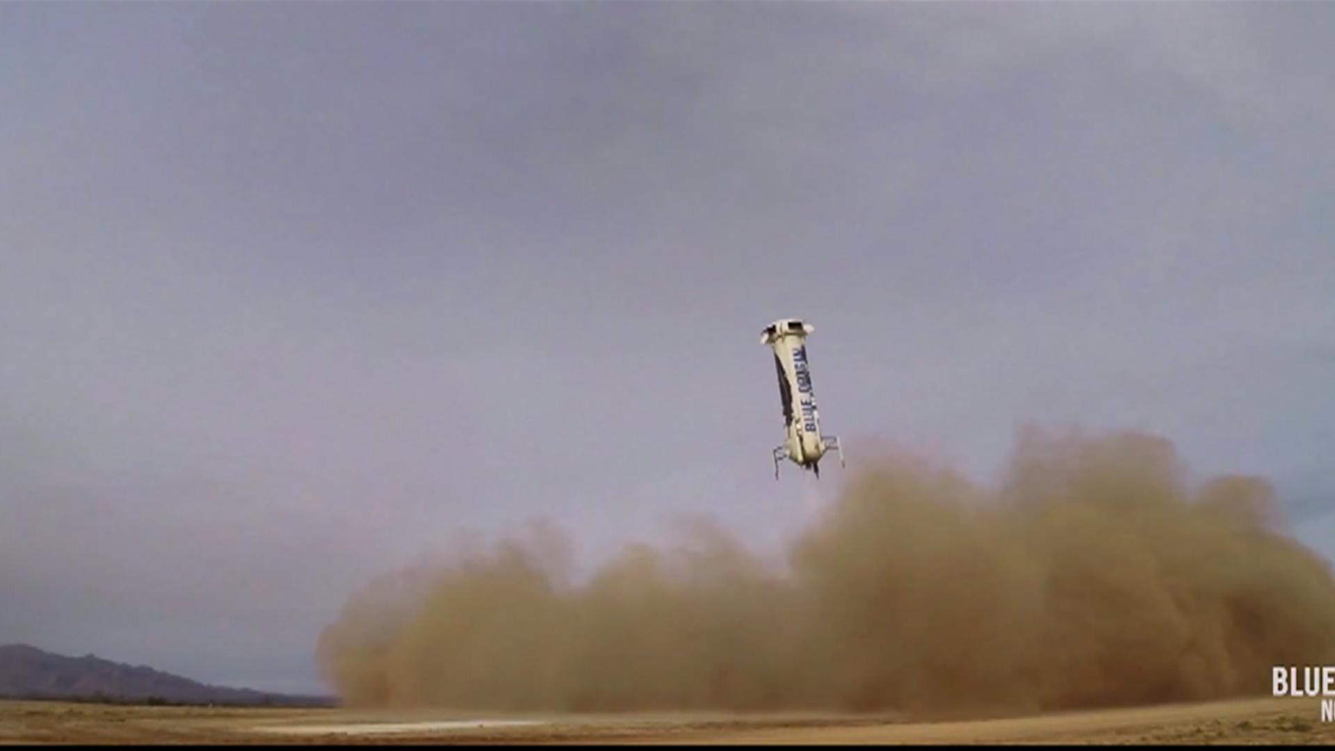 Amazon Founder Jeff Bezos' Space Company Safely Lands a Rocket