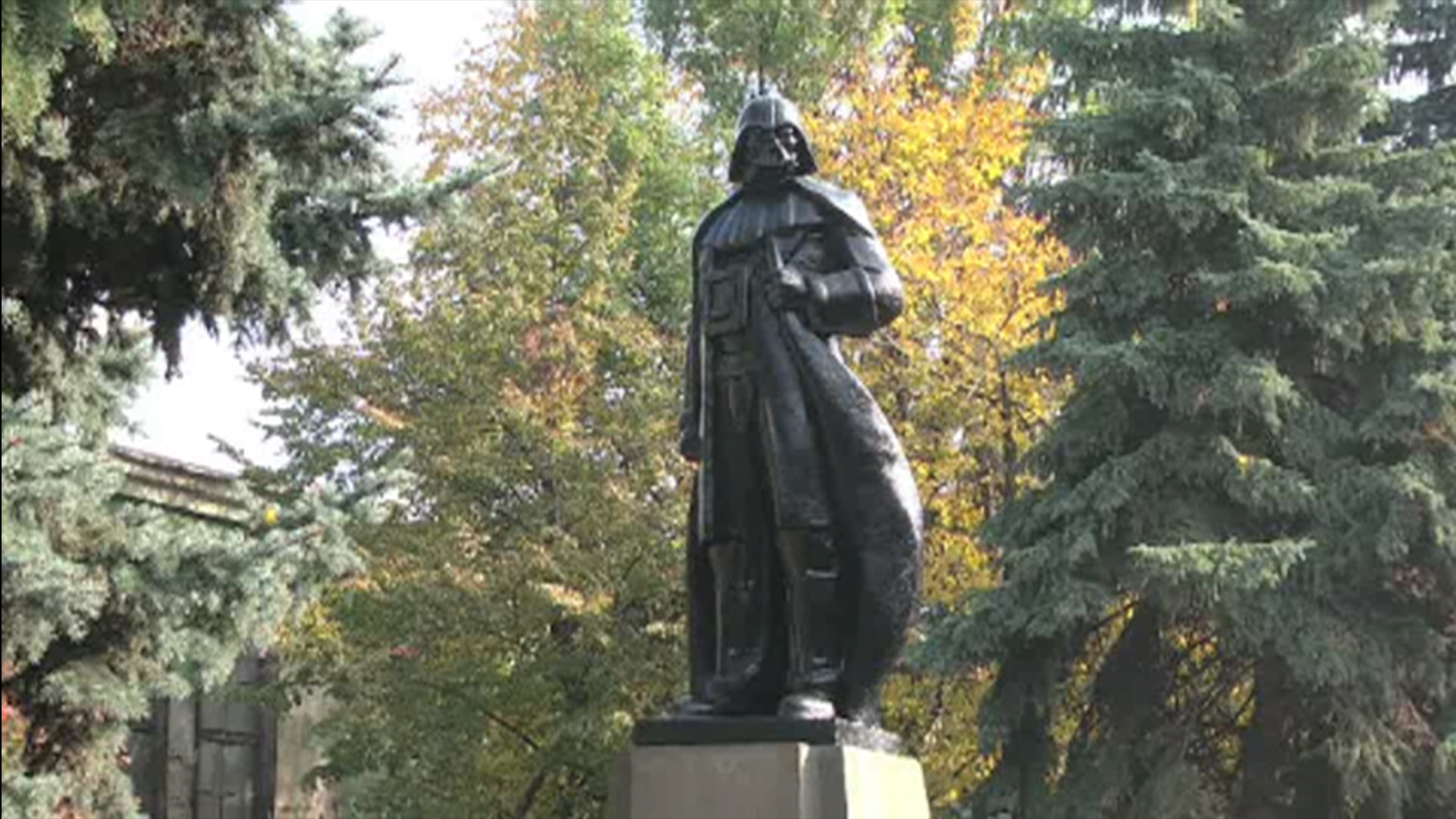 Statue of Lenin in Ukraine Gets Transformed Into Darth Vader Monument