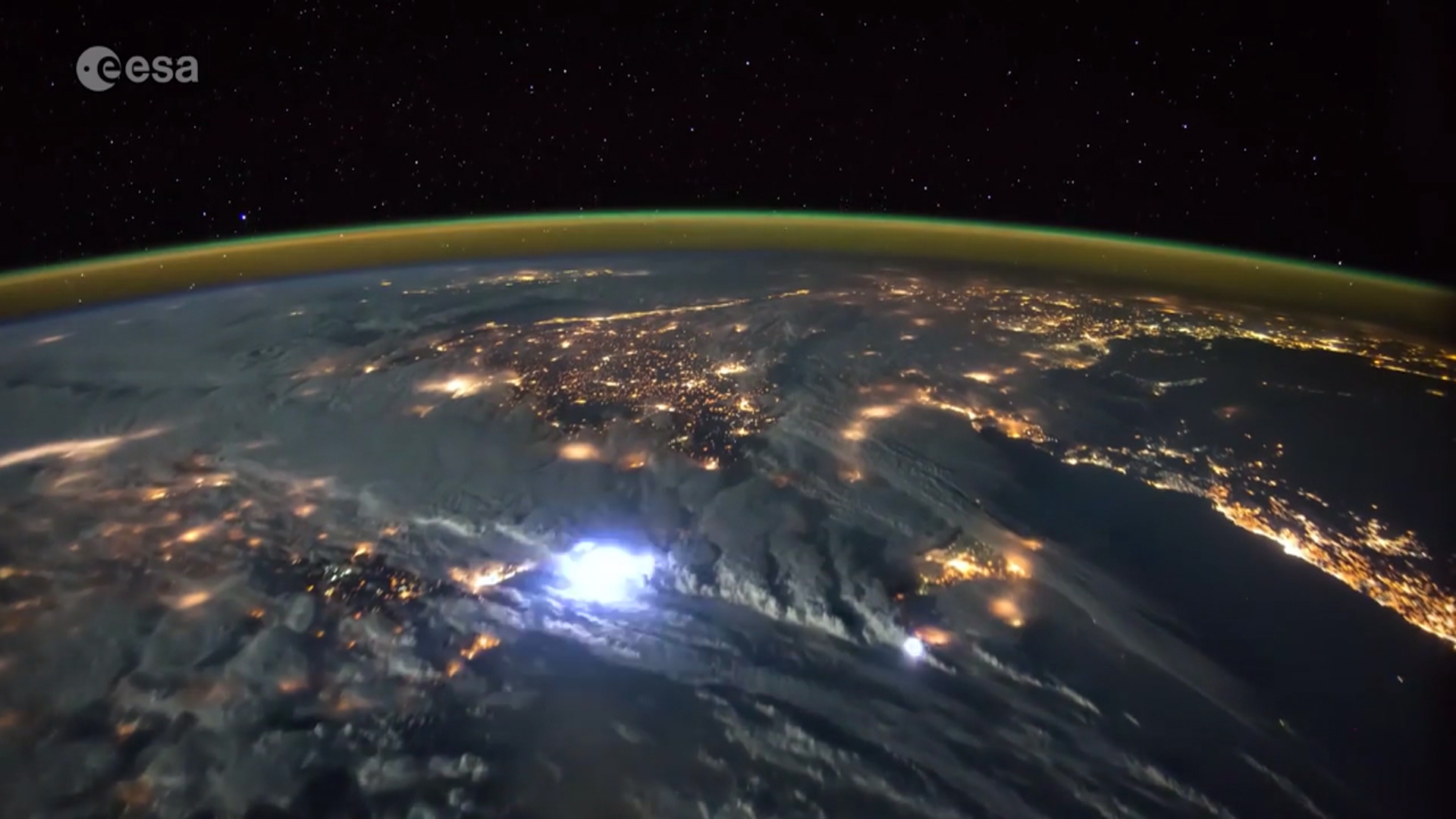 watch lightning storms seen from space nbc news