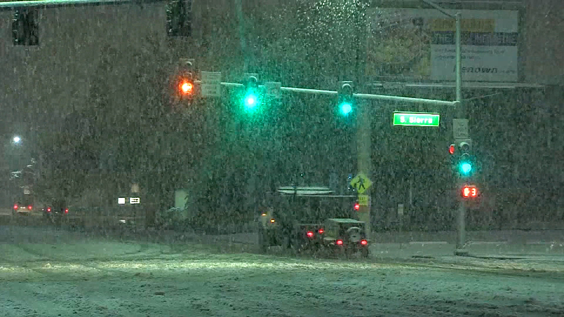 snow storm knocks out power closes roads in reno nevada nbc news