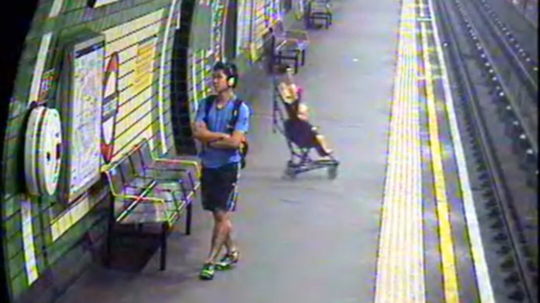 Woman Scrambles to Save Tot After Wind Blows Stroller Onto Train Tracks