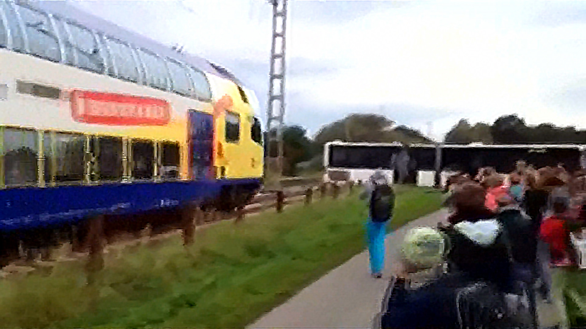 Train Crashes Into School Bus Stuck At Crossing