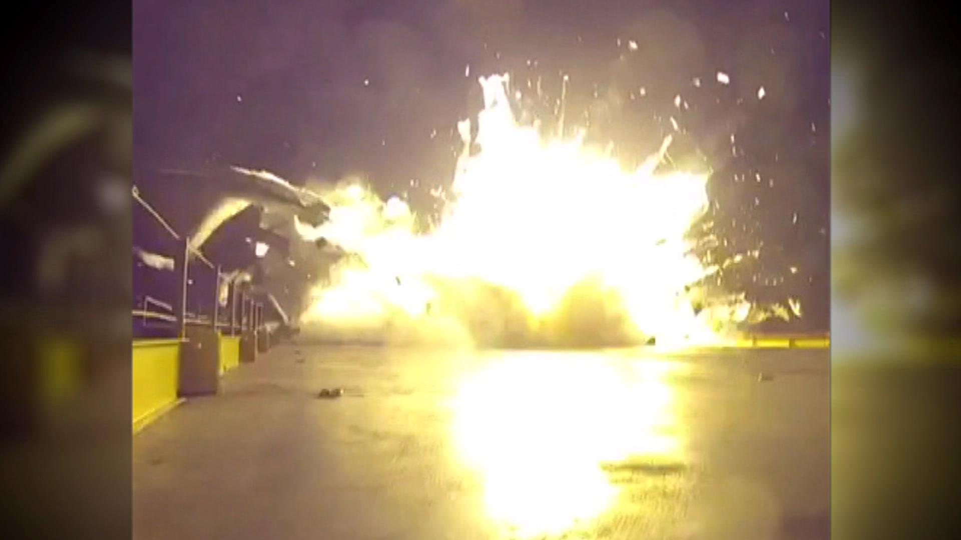 Video Captures SpaceX Rocket Landing End in Fiery Explosion