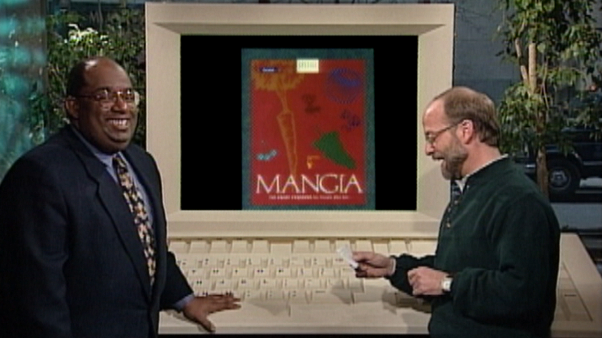 Al Roker takes a look at high-tech cooking in '95: Recipes on floppy disks!