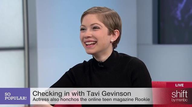 Actress & editor Tavi Gevinson on So POPular!