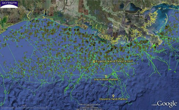 Oil Rigs In Gulf Of Mexico Map.Map Gulf Of Mexico Oil Production Msnbc