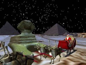 Santa cozies up with the Sphinx