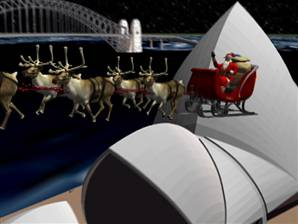 Santa spotted over Sydney