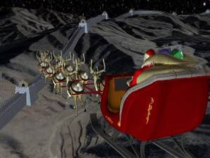 Santa seen hovering over Great Wall