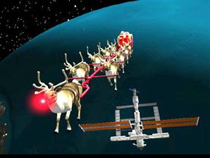 Santa takes an Astronomical Journey
