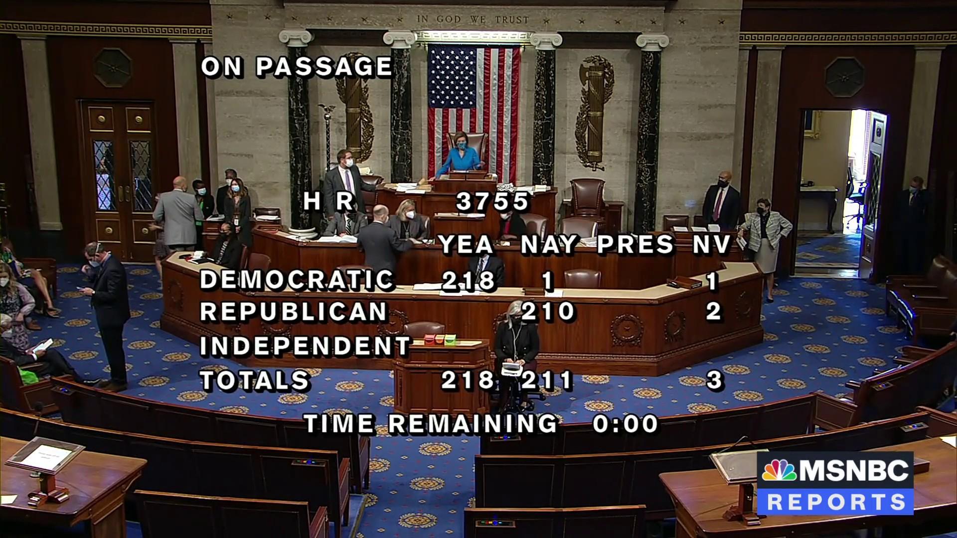 House passes bill to codify Roe v. Wade into law