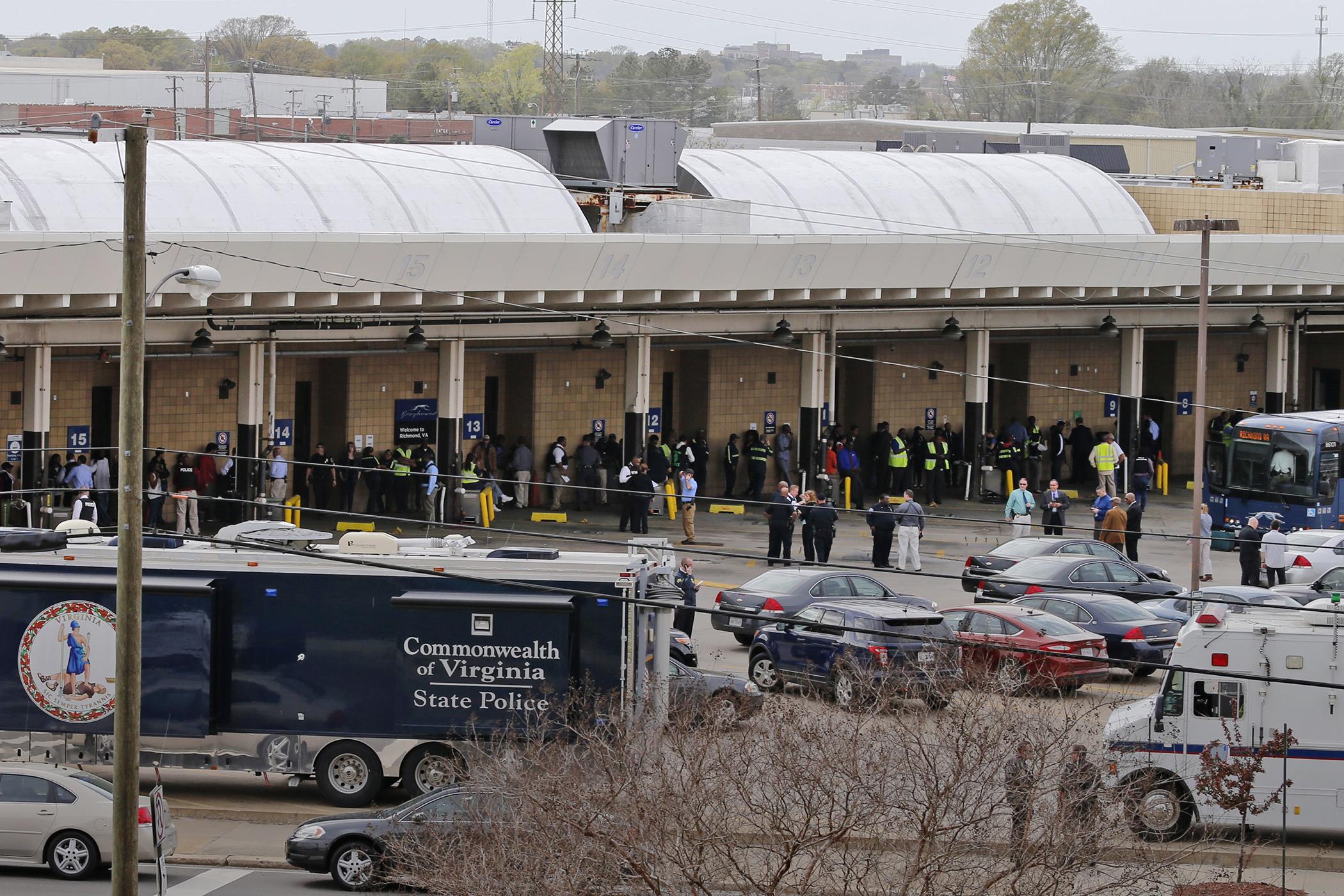 Trooper Gunman Dead In Shooting At Greyhound Station In Richmond Virginia