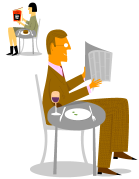 Image depicting someone eating alone