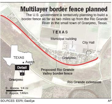 Border Fence May Create No Mans Land US News Security NBC News - Us border fence map