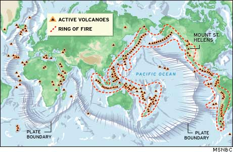St Helens Part Of Volcanic Ring Of Fire Technology Science