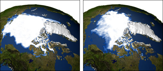 IMAGE: SHRINKING ARCTIC SEA ICE