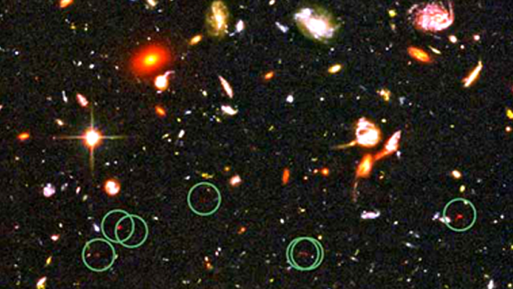 Image: Detail from Hubble Ultra Deep Field