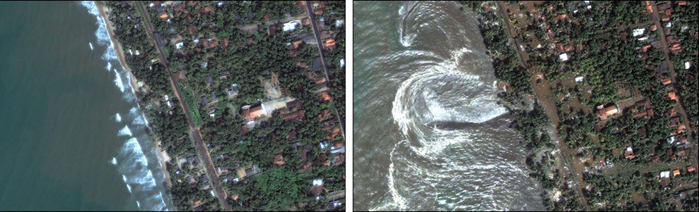Image: Before and after tsunami