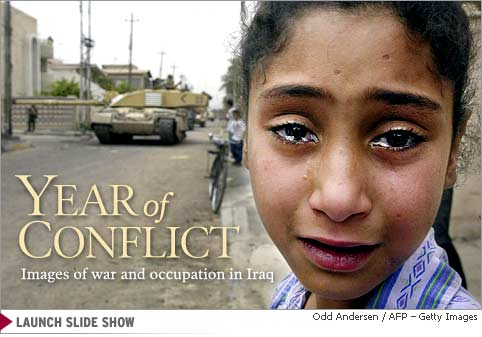 A young Iraqi girl cries