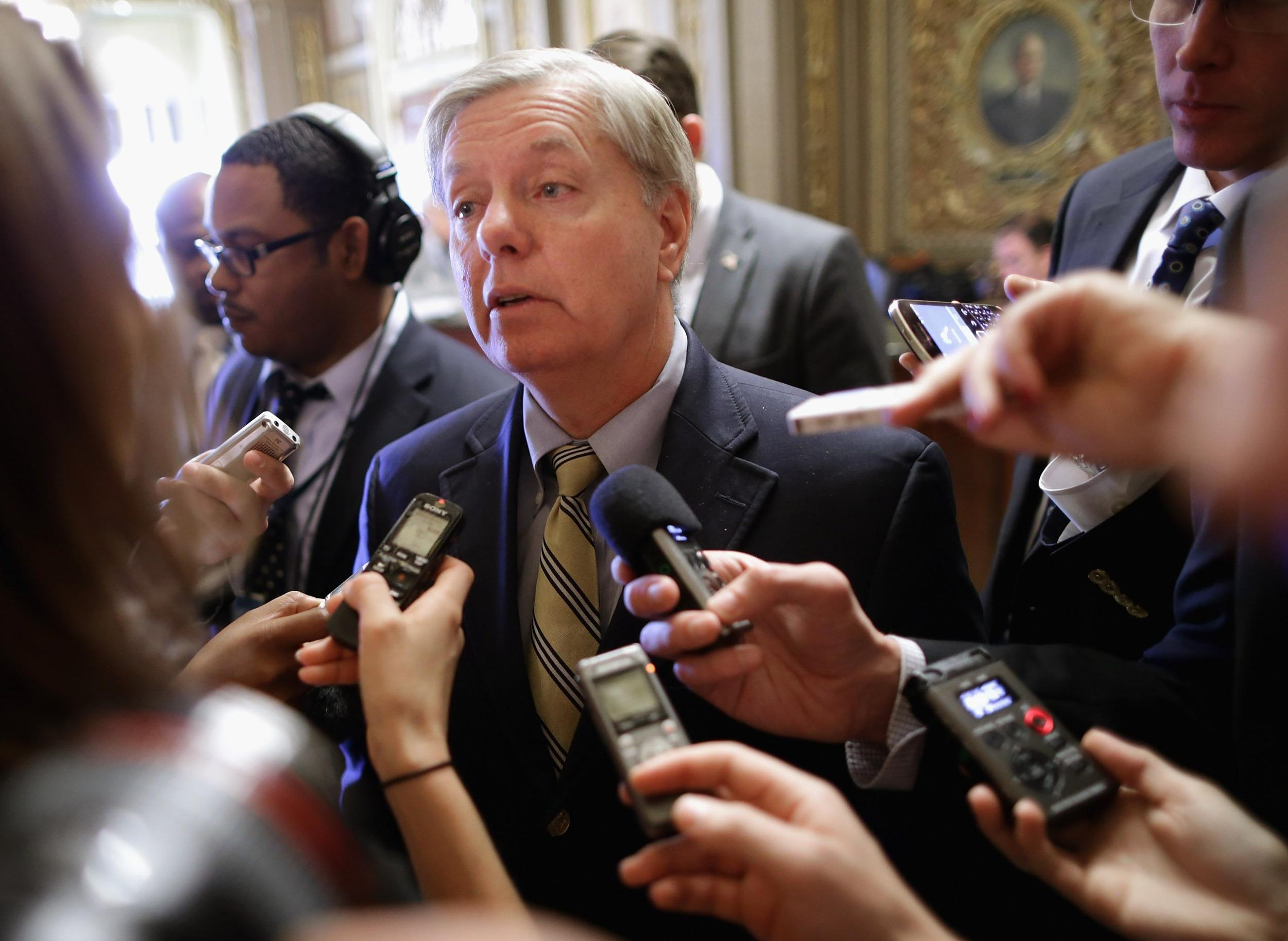 Sen. Lindsey Graham (R-SC) speaks with reporters on Capitol Hill