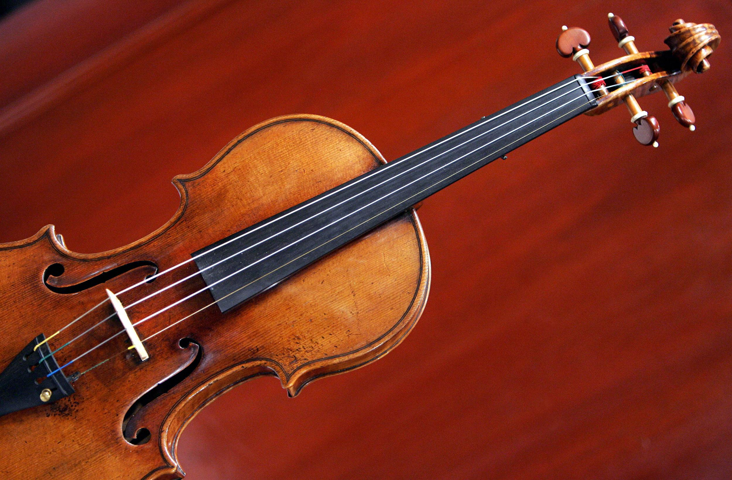 Image: A 1729 Stradivari violin.