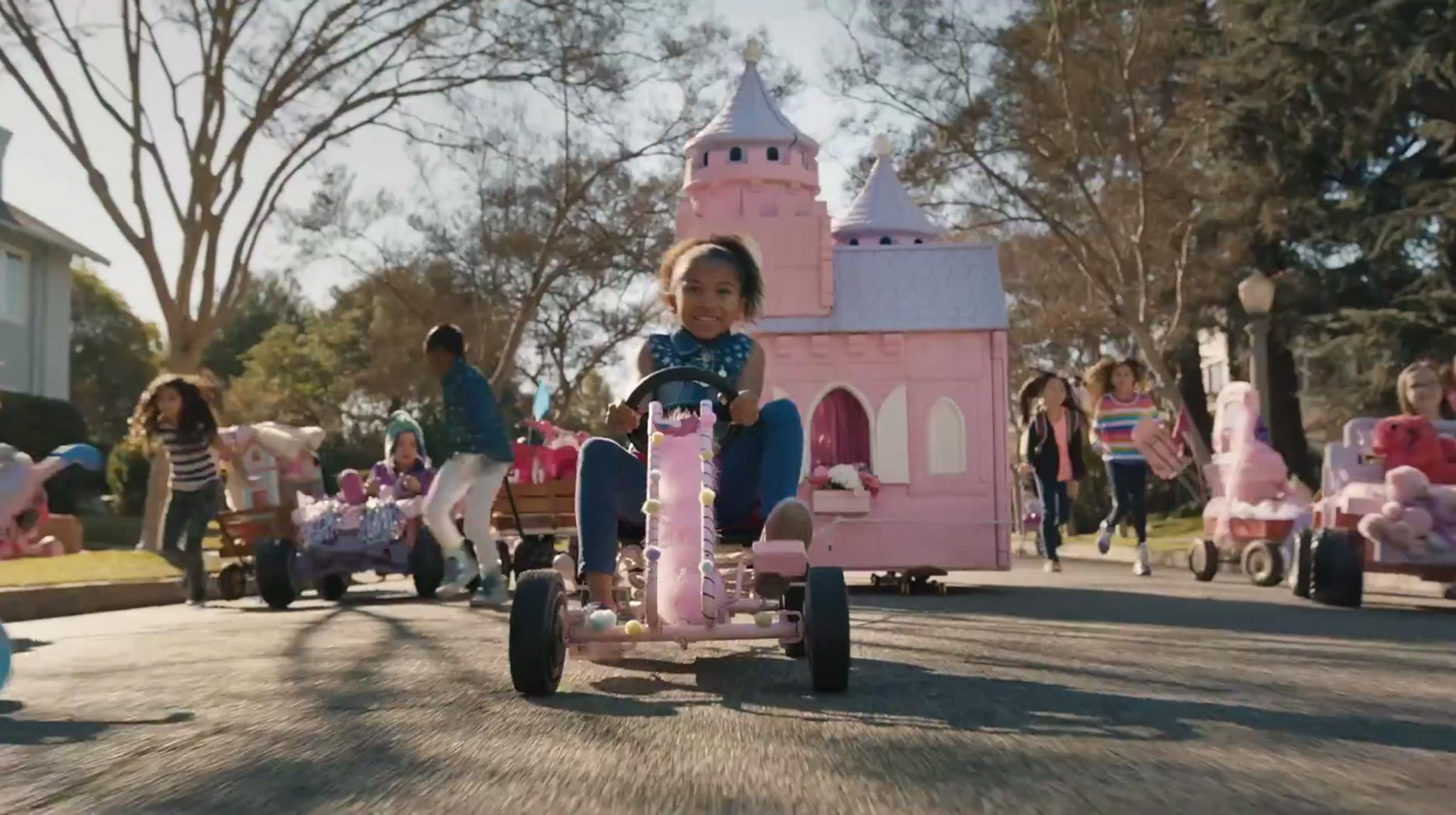 Image: A commercial for GoldieBlox that ran during the Super Bowl.