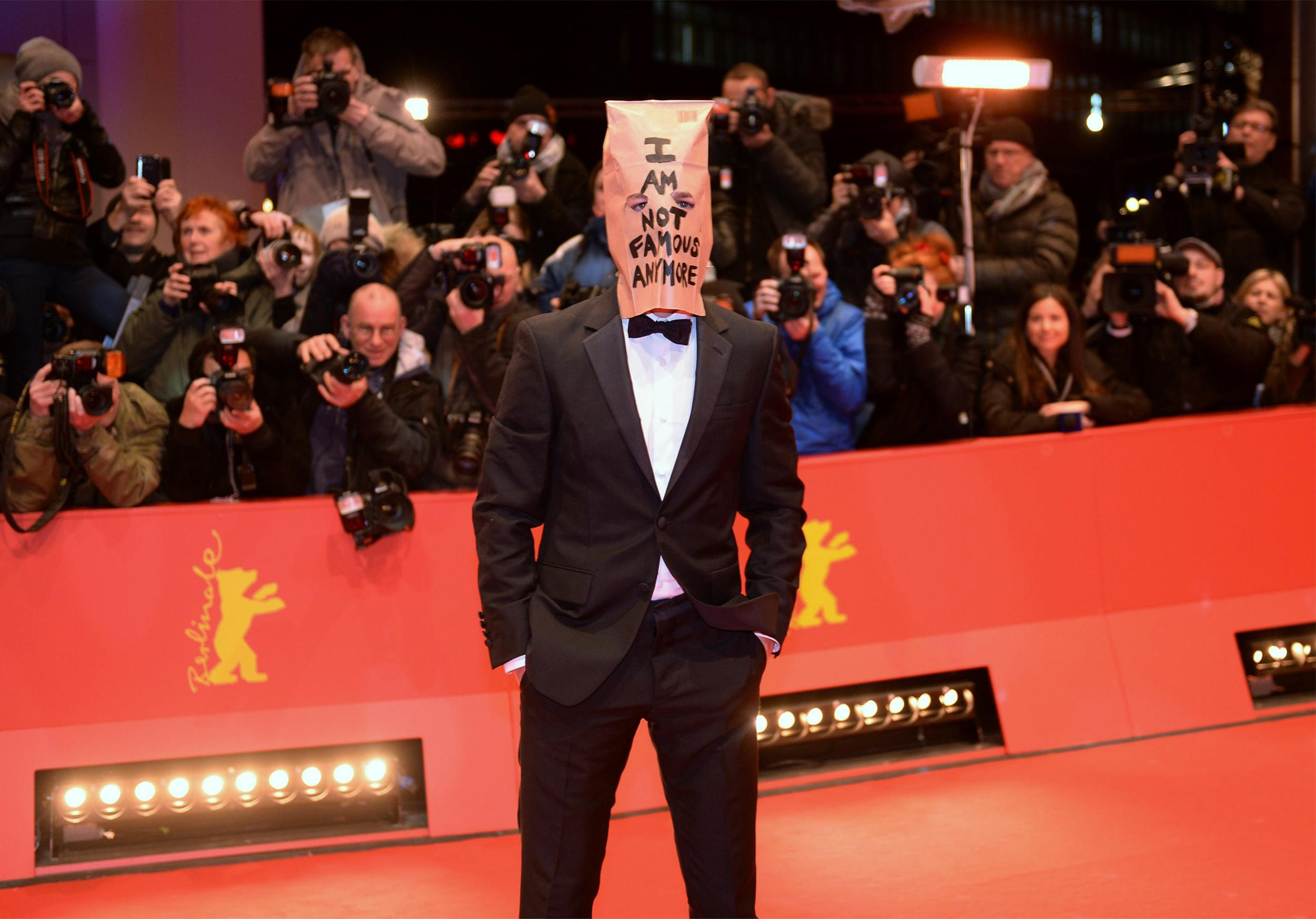Image: US actor Shia LaBeouf arrives on the red carpet for the screening of the film