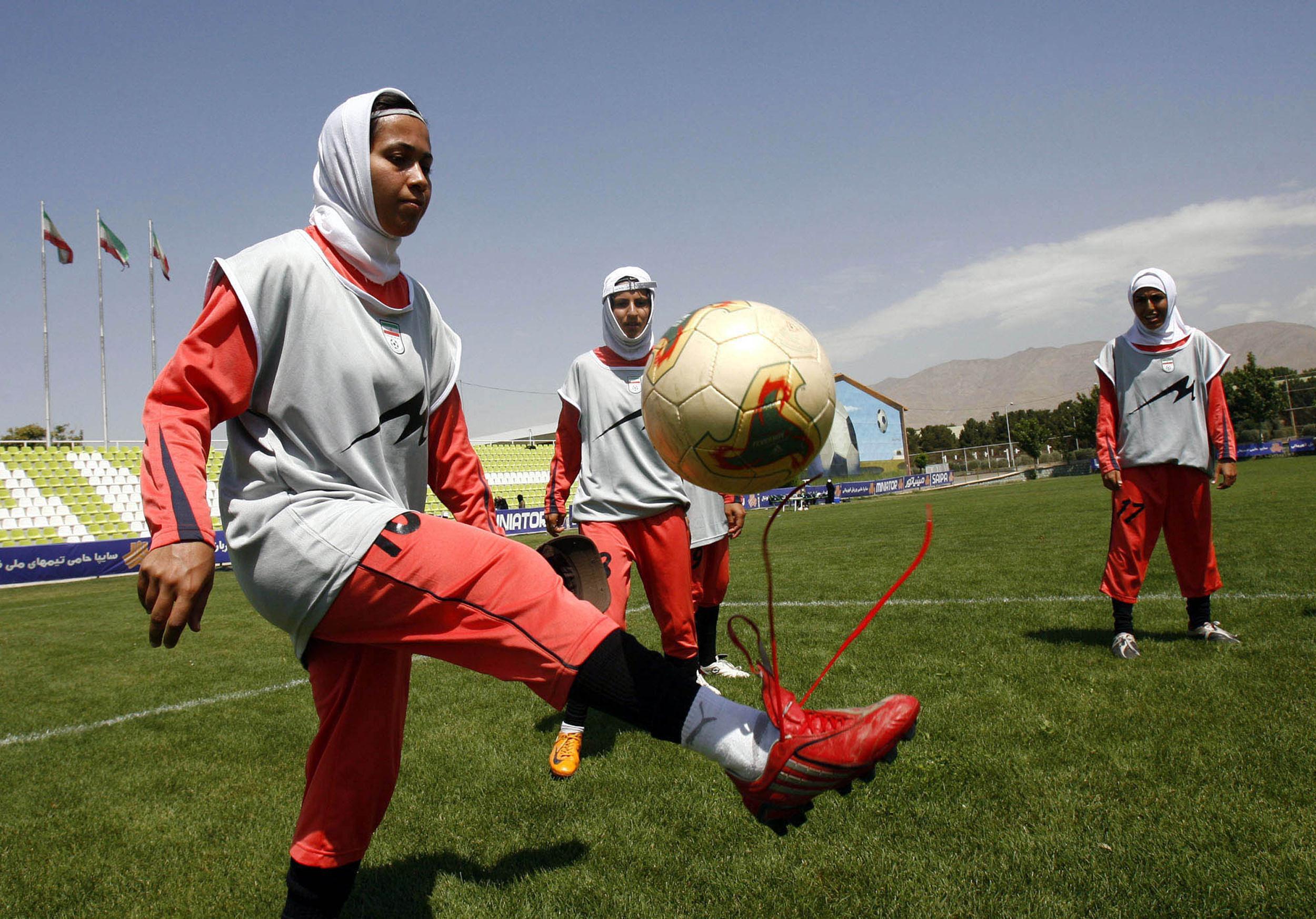 Image: Iranian female soccer players