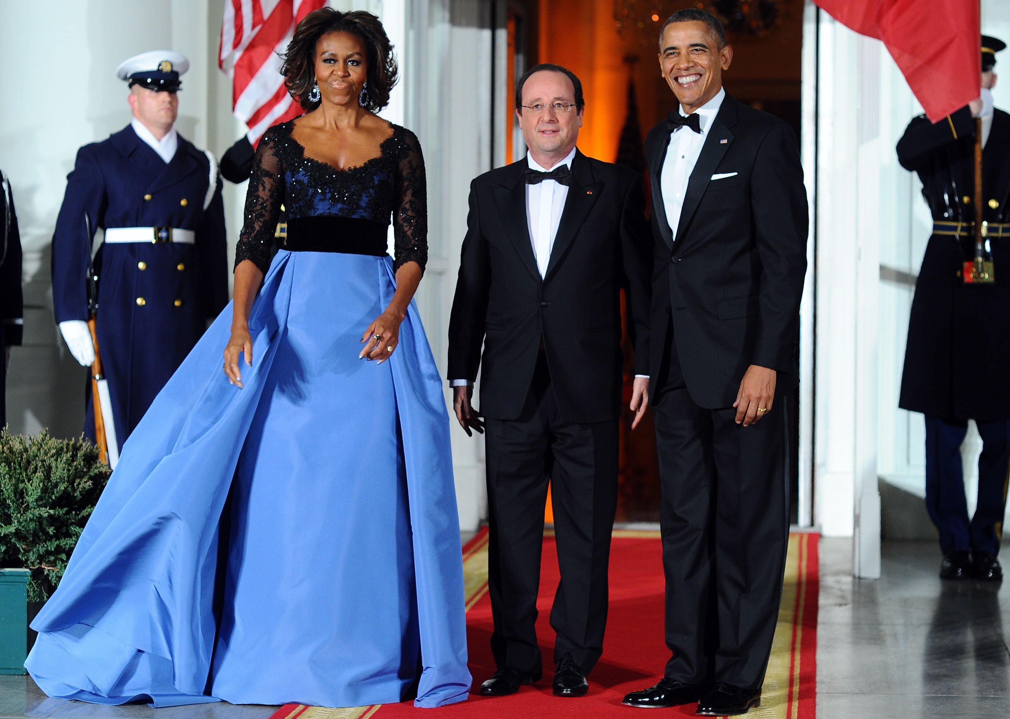 First Lady S Carolina Herrera Dress A Smash At State