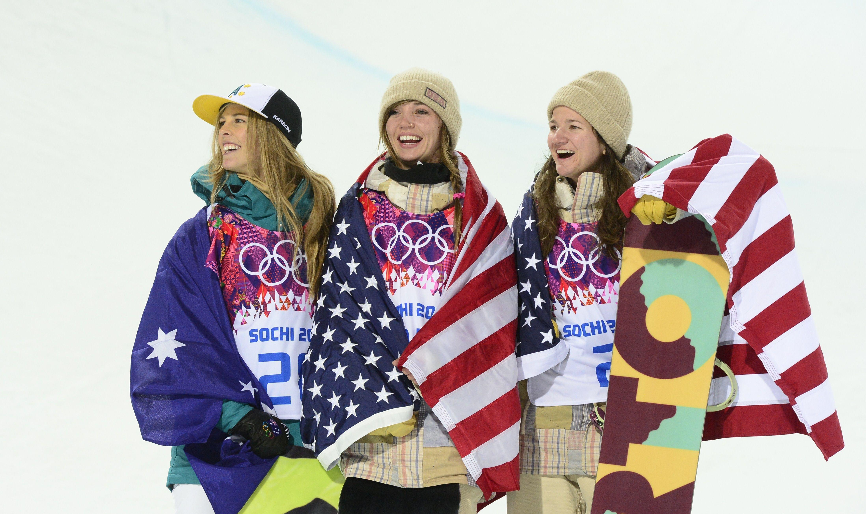 Image: OLY-2014-SNOWBOARD-HALFPIPE-WOMEN-PODIUM