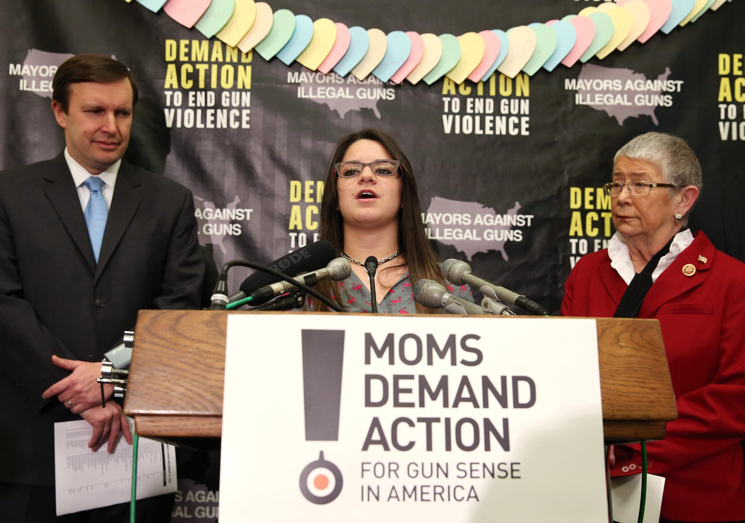 Image: Gun Control Advocates Discuss New Study Of School Shootings Since Newtown