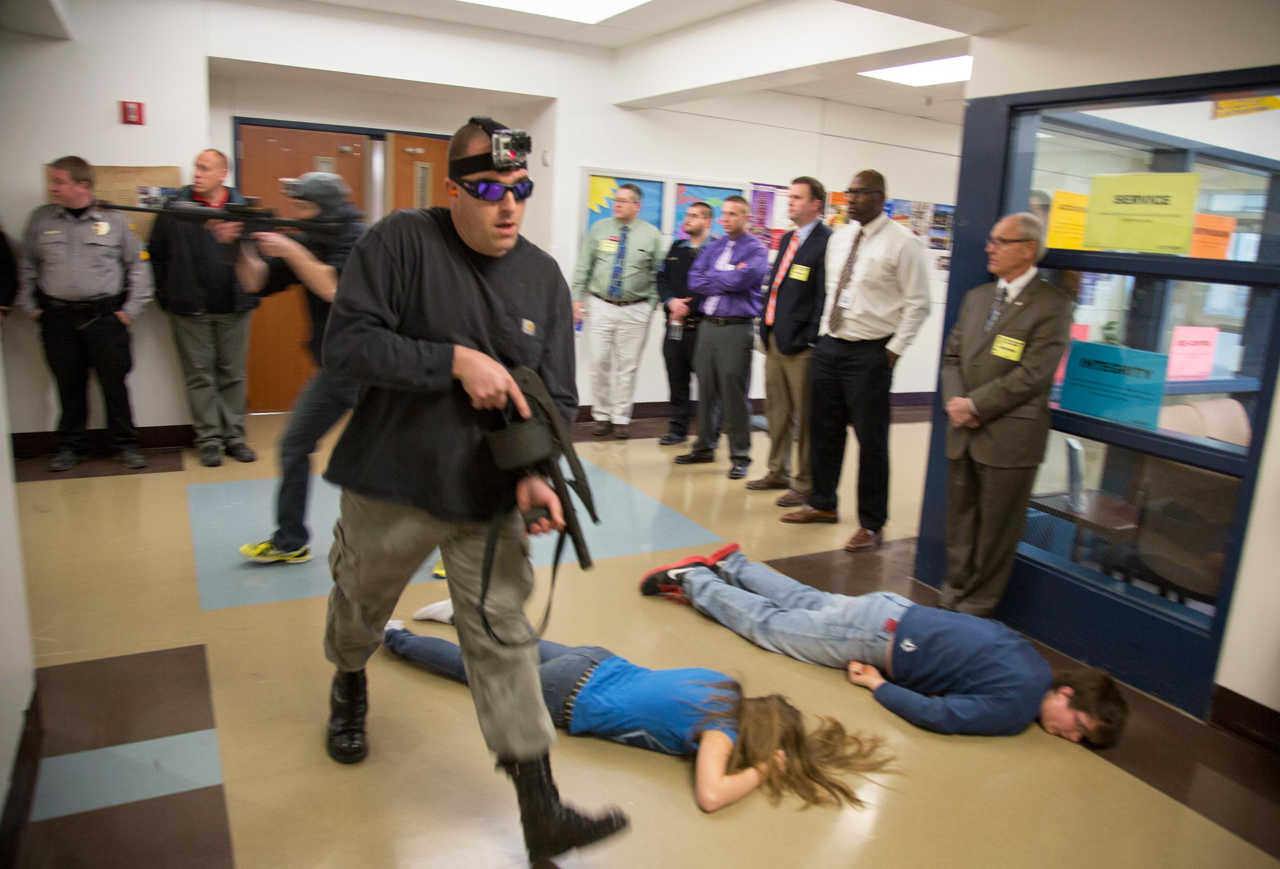 Fake Blood And Blanks Schools Stage Active Shooter Drills