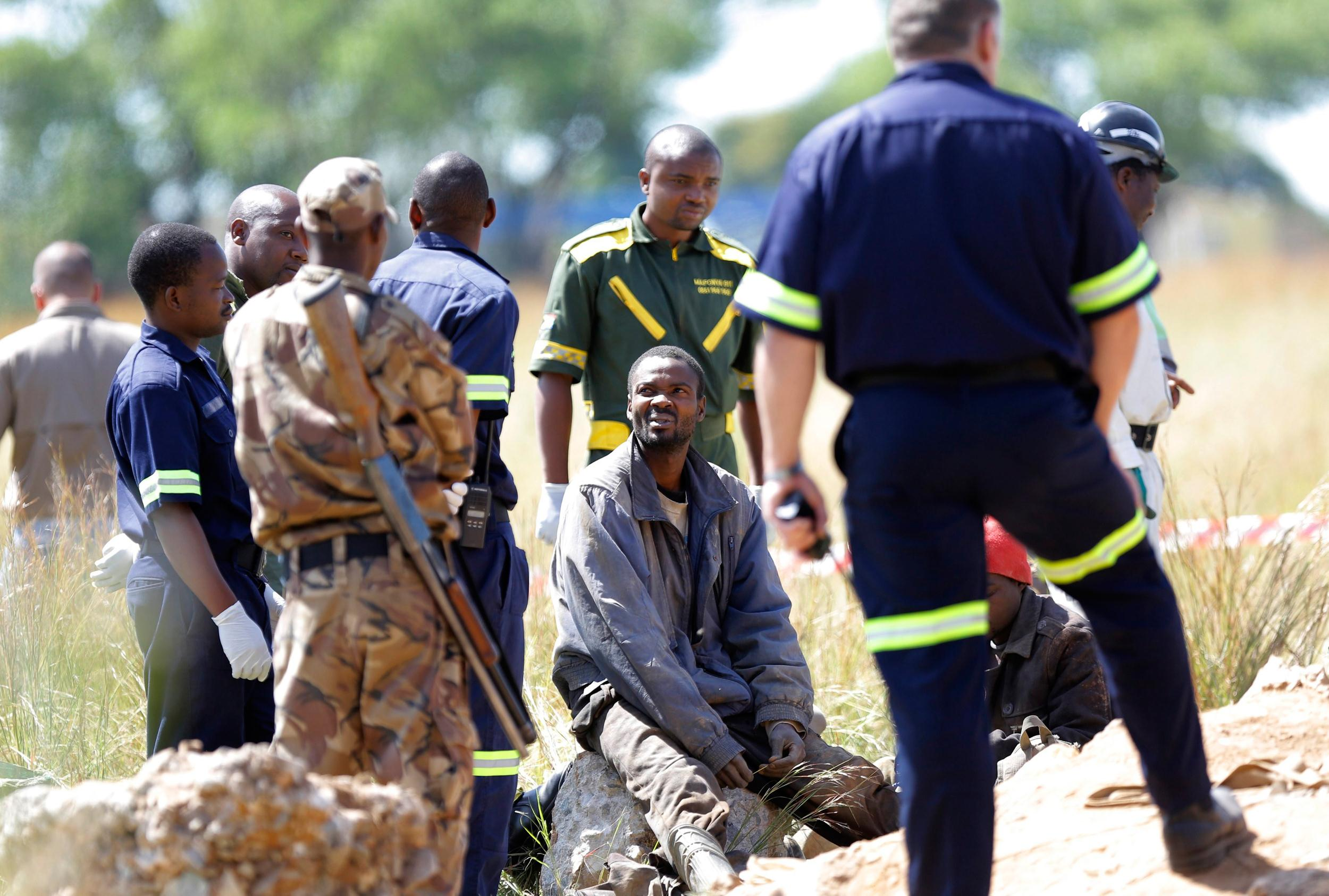 Image: Trapped illegal miners