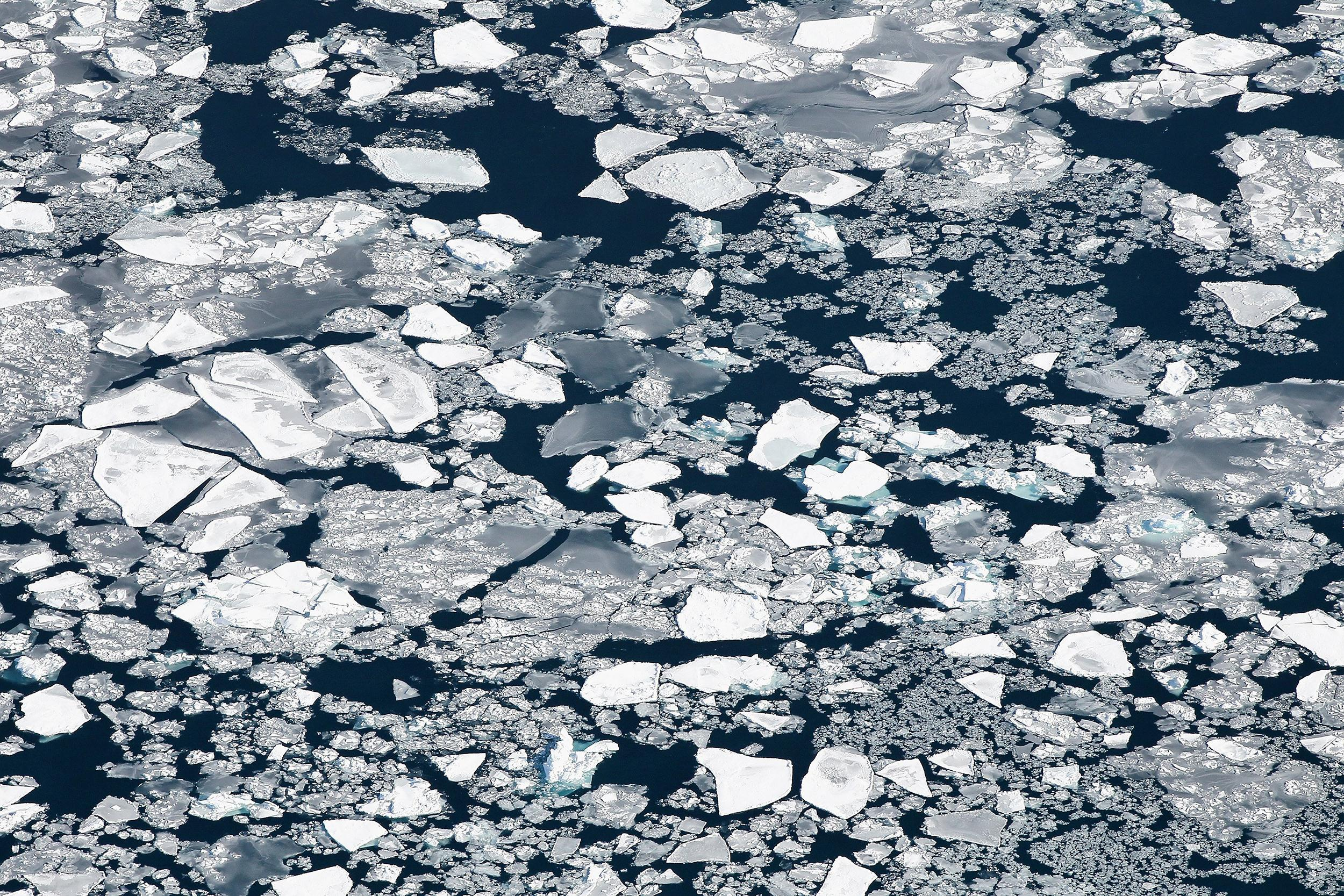 Image: Ice covers Lake Michigan on Feb. 18, 2014 near Chicago, Illinois.