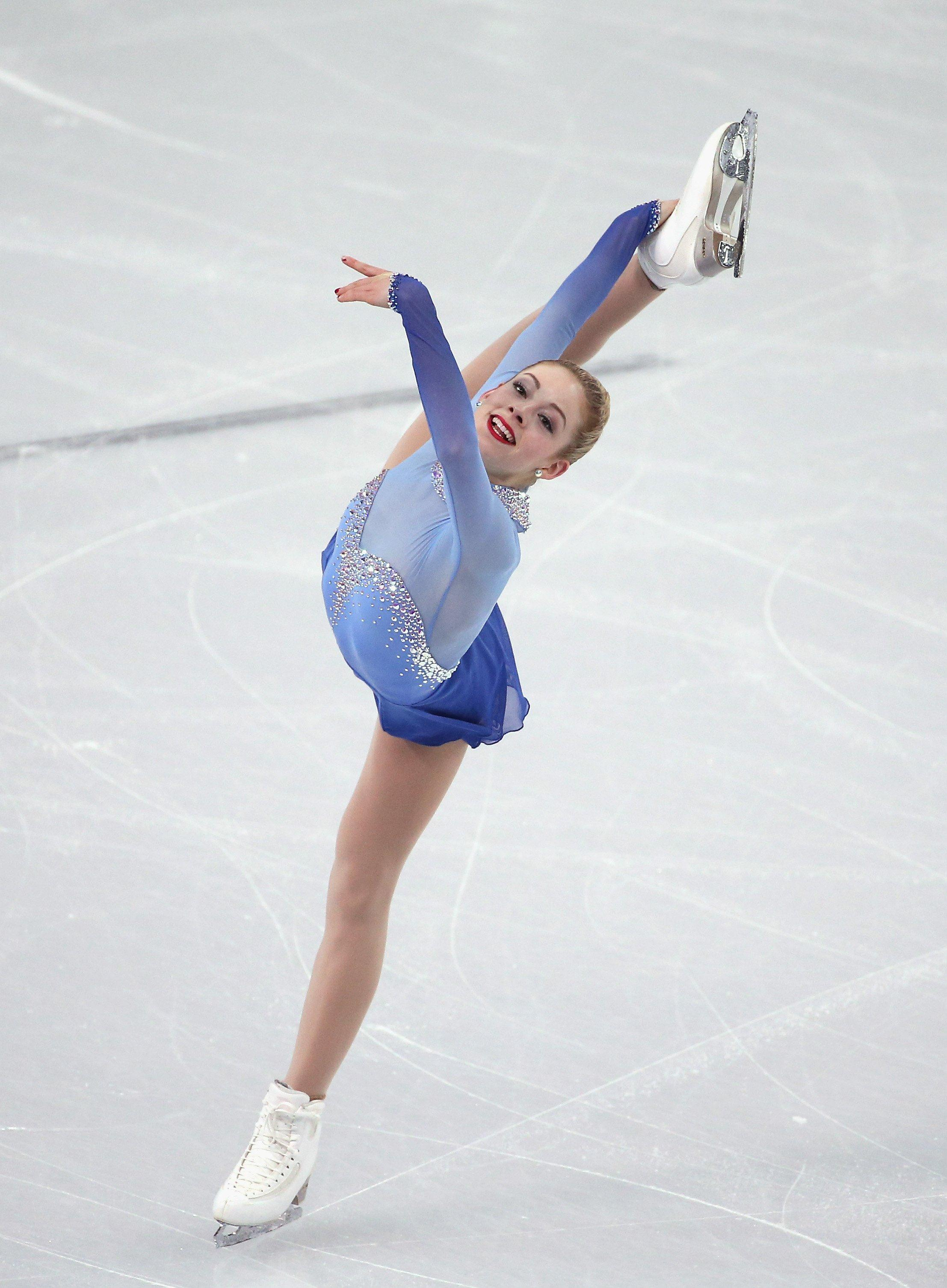 Figure skating split jumps