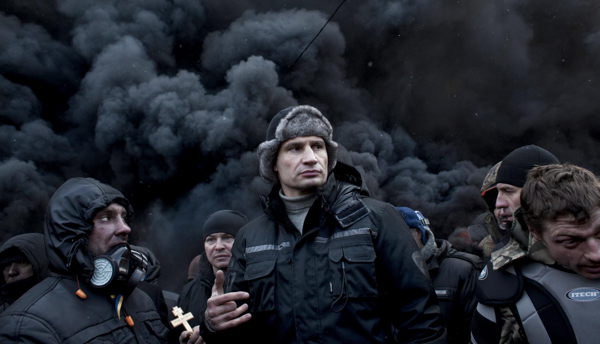 Ukraine Opposition Leader Vitali Klitschko in Fight of His ...