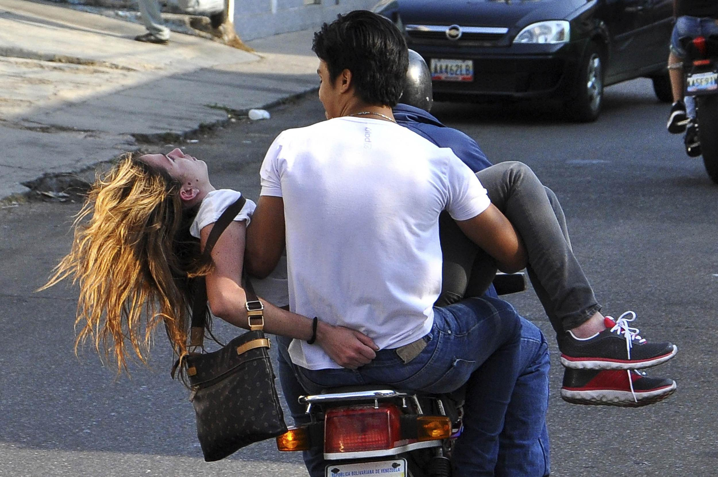 ... shot in the head during a protest against Nicolas Maduro's government: http://www.nbcnews.com/storyline/venezuela-crisis/venezuelan-beauty-queen-dies-injuries-following-protests-n33756