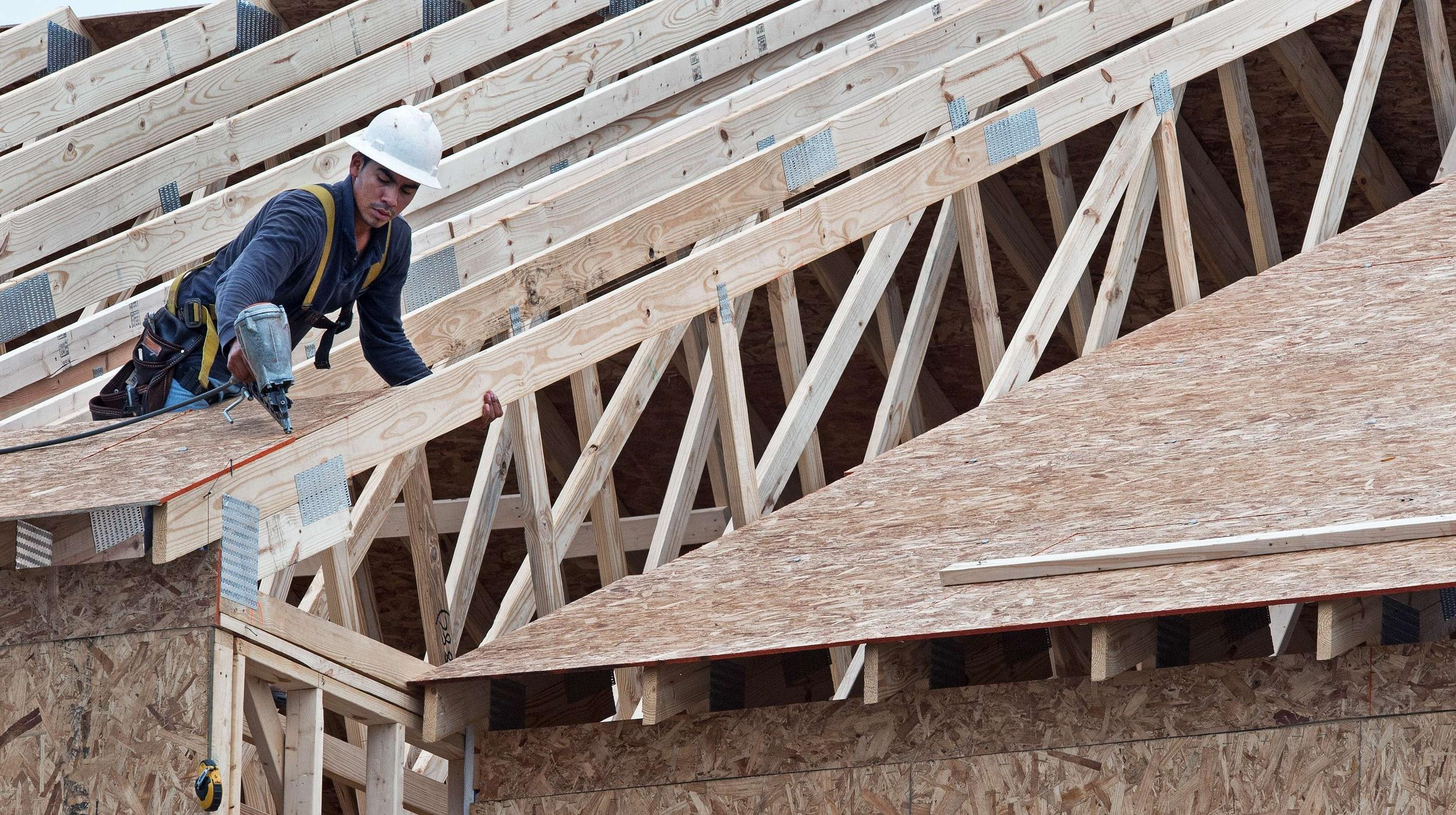 Starts on new homes fell 16 percent in January, the biggest percentage drop in nearly three years.