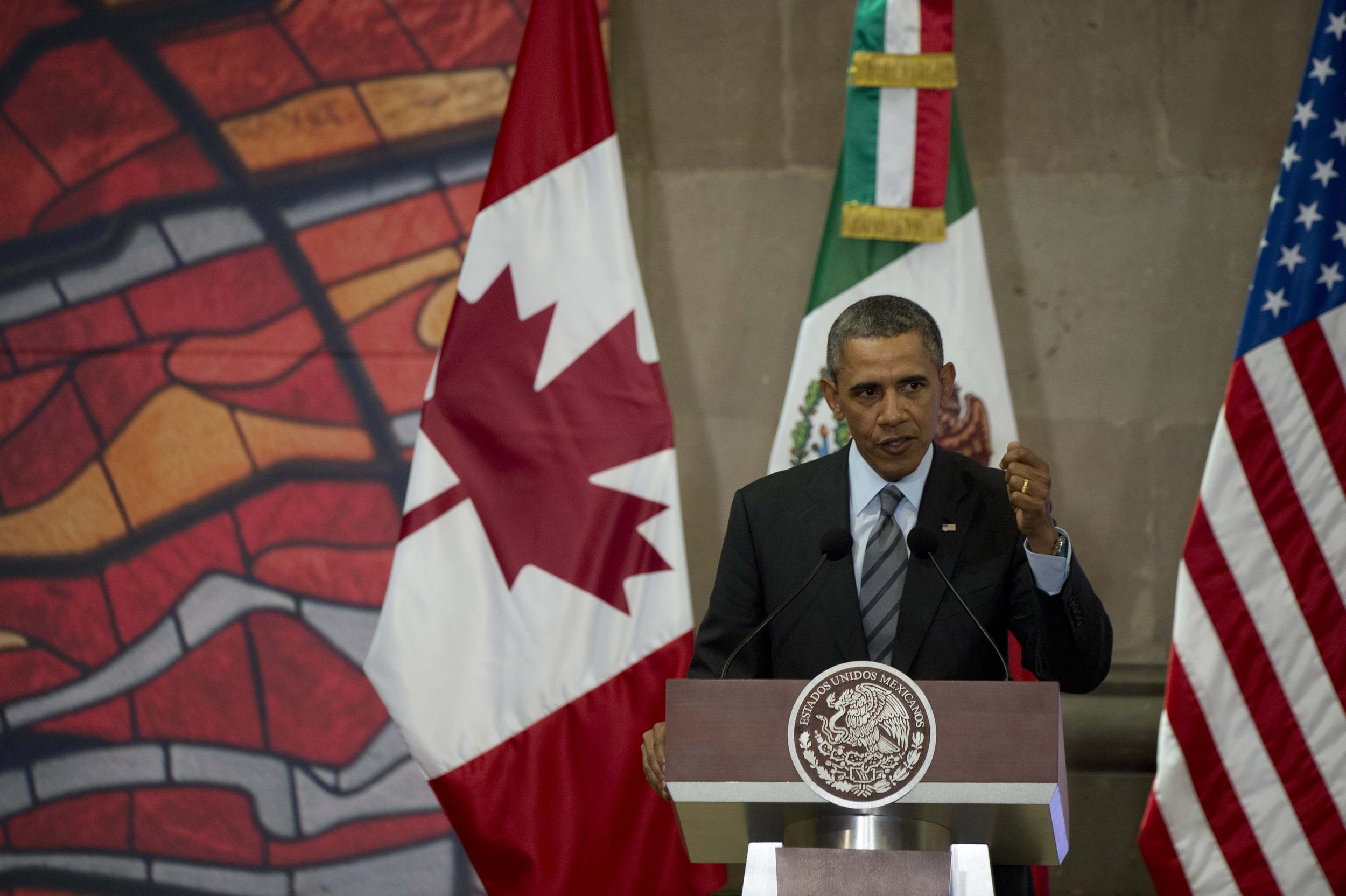 Image: MEXICO-US-CANADA-OBAMA-PENA NIETO-HARPER