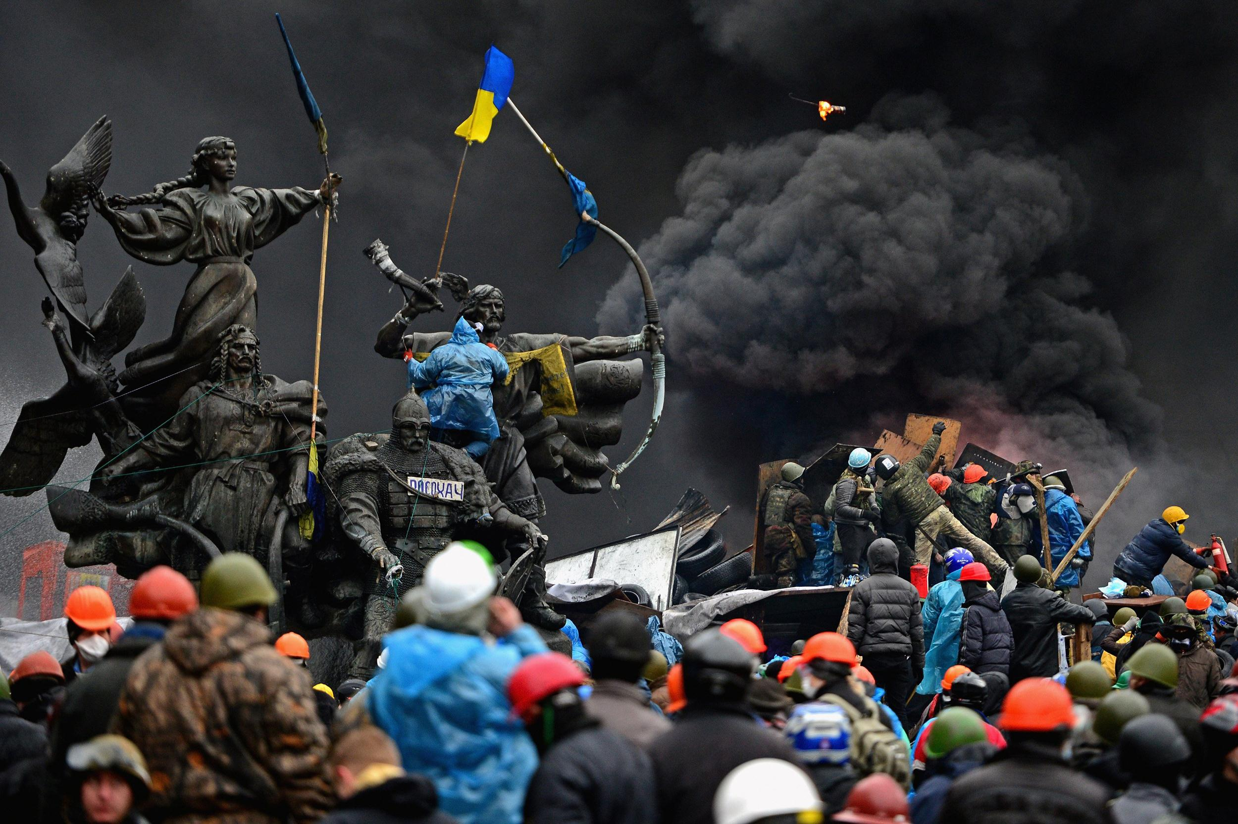 Image: Violence Escalates As Kiev Protests Continue