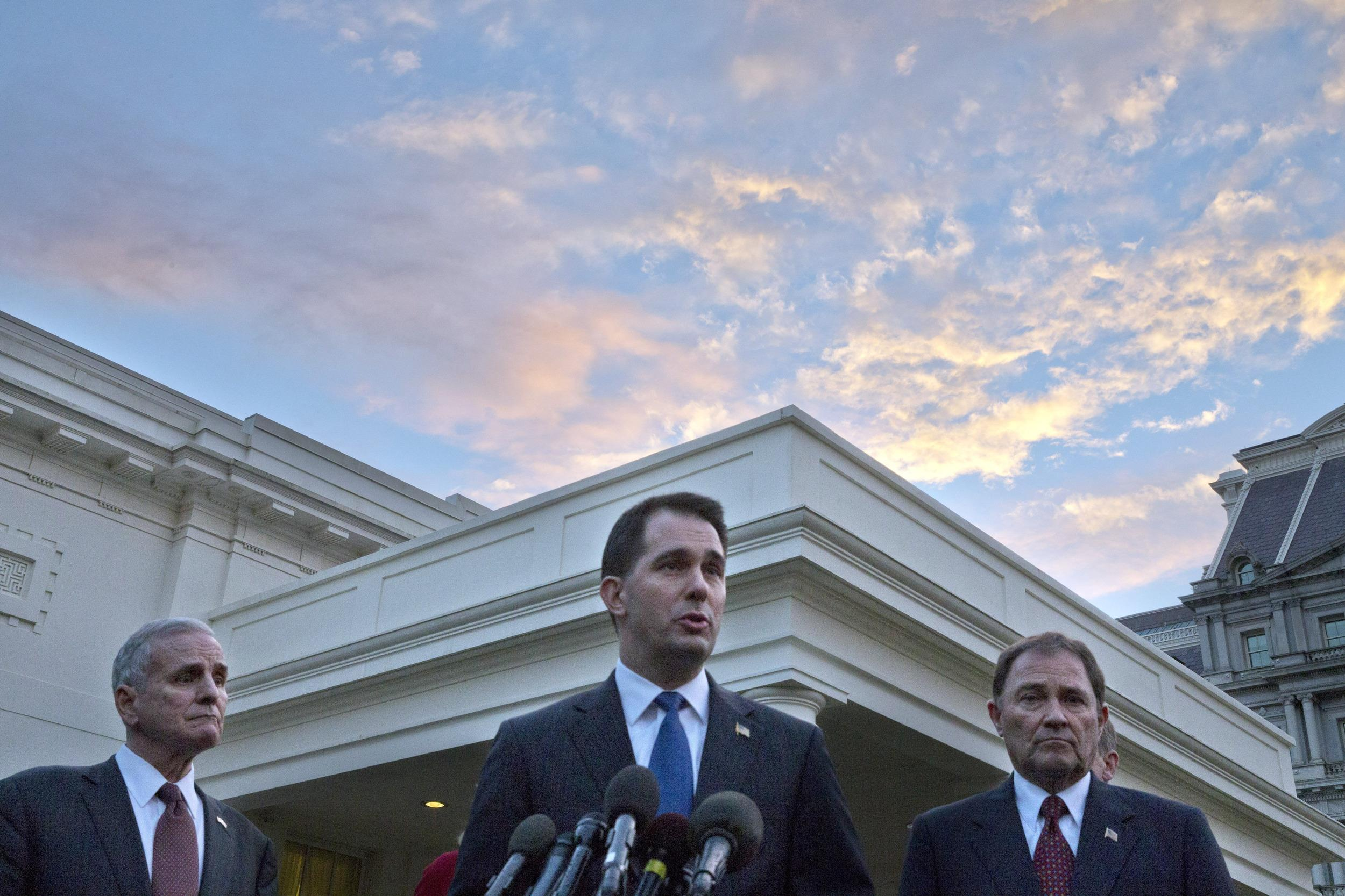 Image: Mark Daton, Gary Herbert, Scott Walker