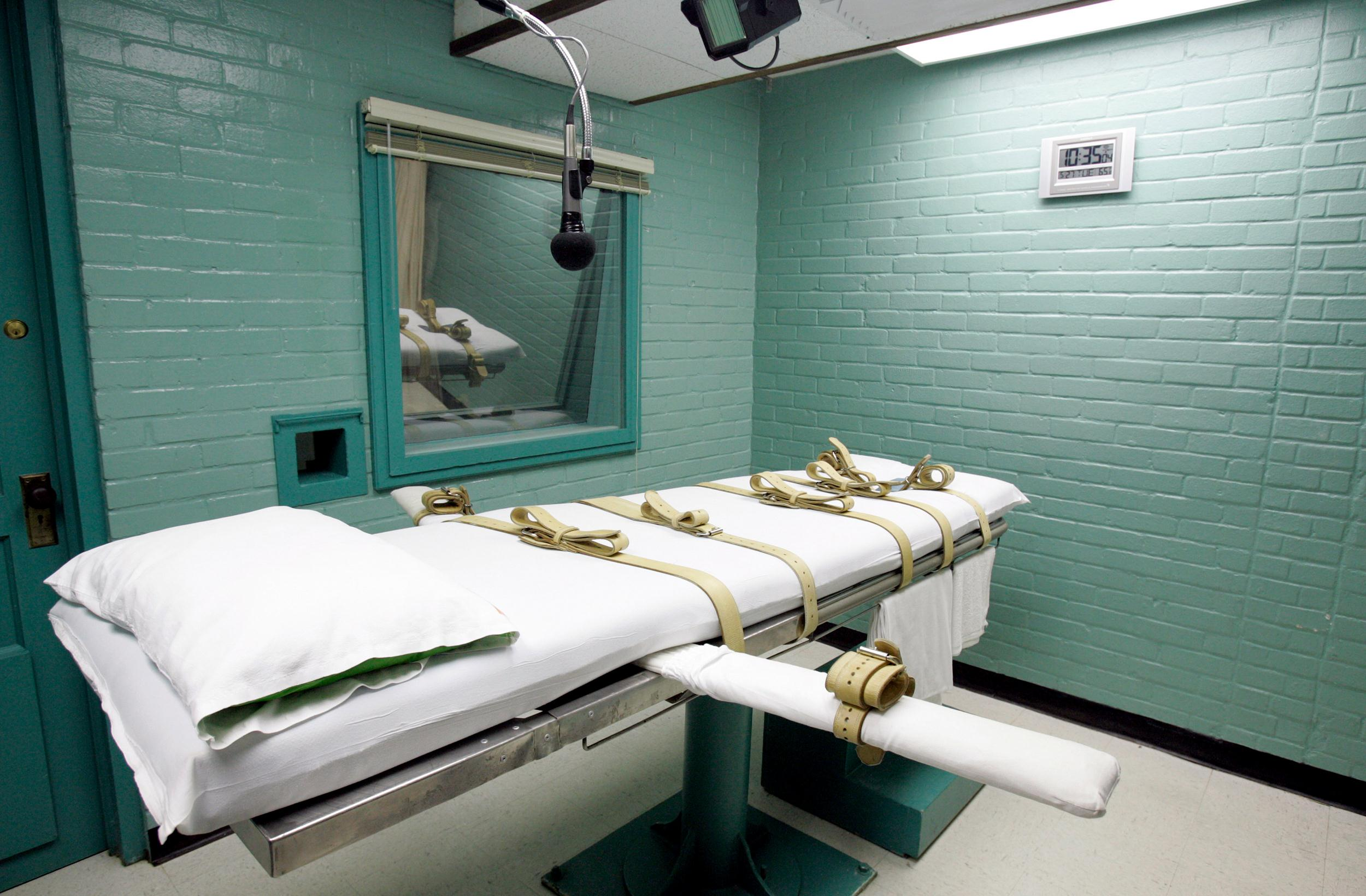 Image: The gurney in the death chamber is shown in this May 27, 2008 file photo from Huntsville, Texas.