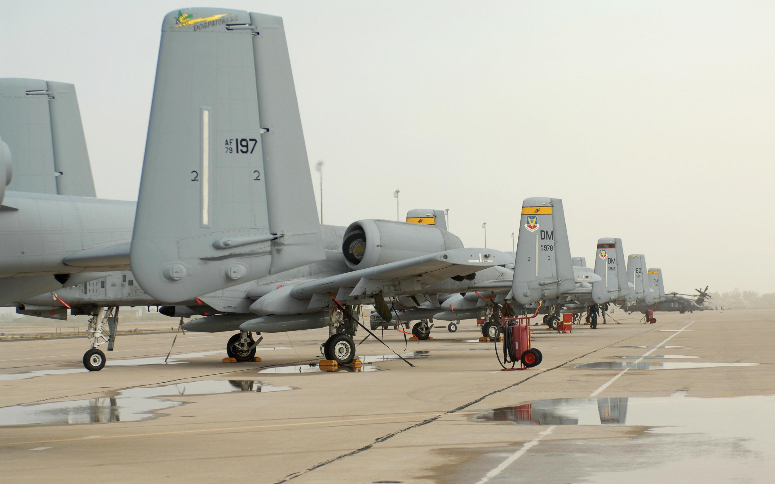 Image: Two A-10C Thunderbolt II aircrafts at Davis-Monthan AFB, Ariz.