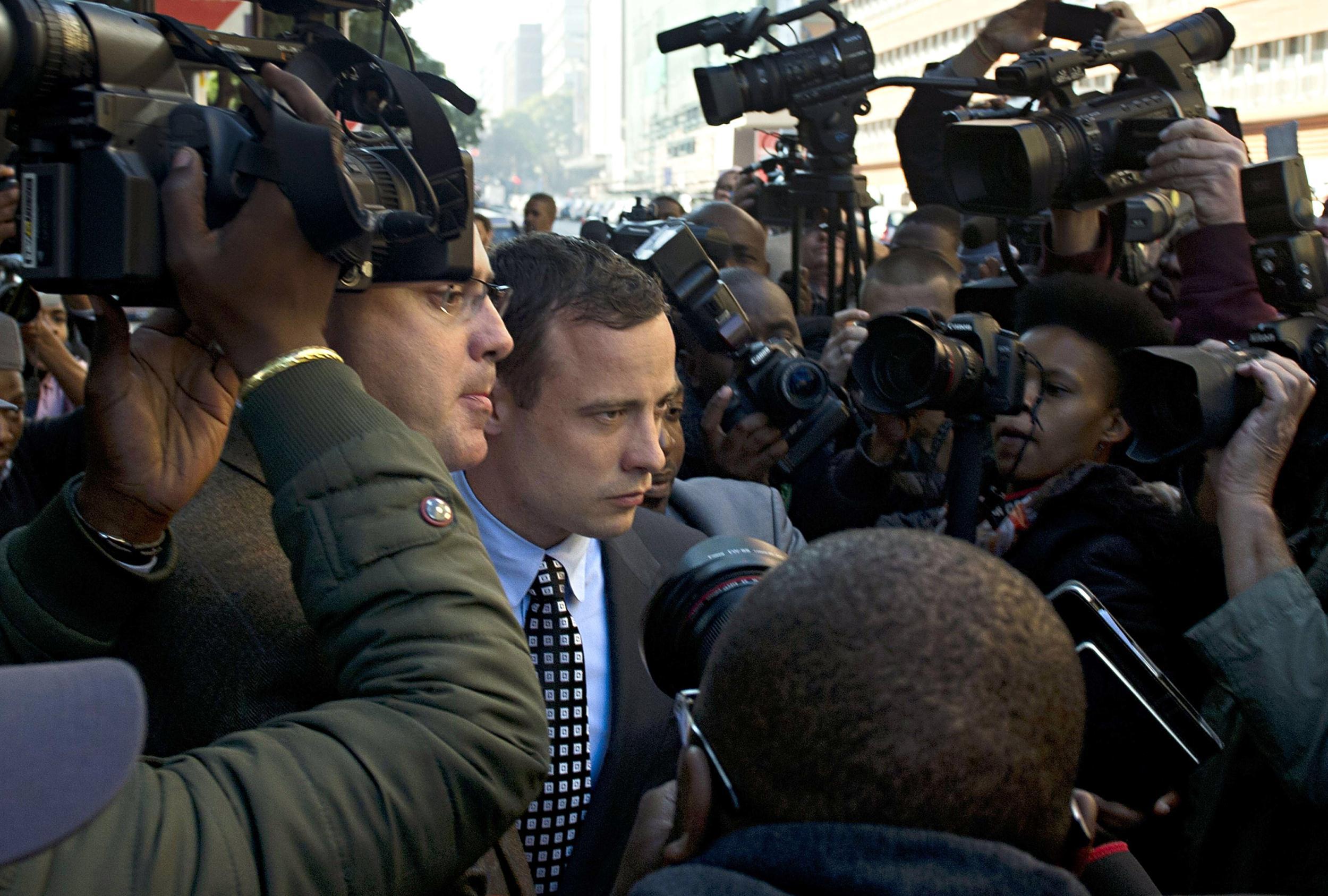 Image: Oscar Pistorius leaving the Magistrate's Court in Pretoria